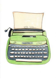 With Love, Archival Typewriter Print by Jo Roper Art on Folksy,  £12.50
