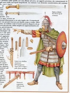 Lombard warrior 6th-8th cent. A.D.