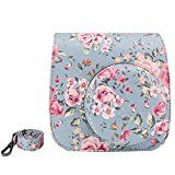 Elvam Vintage Flower Floral PU Leather Fujifilm Instax Mini 8 / Mini 8 Instant Film Camera Case Bag w/ a Removable Bag Strap Reviews