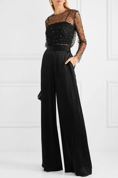 Cocktail attire for women - Reem Acra Embellished tulle and crepe top – Cocktail attire for women Cocktail Attire For Women, Cocktail Outfit, Cocktail Movie, Cocktail Sauce, Cocktail Shaker, Cocktail Dresses, Cocktail Recipes, Christmas Party Outfits, Holiday Party Outfit