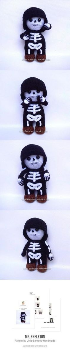 Mr. Skeleton Amigurumi Pattern