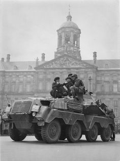 The first Germans in Amsterdam. The Netherlands, May 15th 1940
