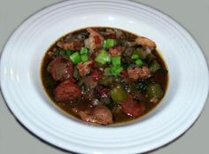 Chicken, Sausage & Shrimp Gumbo by Mellina Recipe on Yummly Shrimp And Sausage Gumbo, Shrimp Gumbo, Jalapeno Chili, Stuffed Jalapeno Peppers, Beer Chicken, Chicken Sausage, Celery Rib, Soups And Stews, Crockpot Recipes