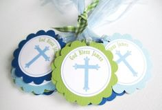 Cross Favor Tags, Personalized for Baptism or First Communion | adorebynat - Paper/Books on ArtFire