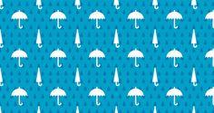 blue umbrella pattern