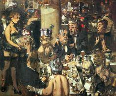 Jack Levine ~ Verkiezingsnacht ~ 1954 ~ Olieverf op doek ~ x cm. ~ The Museum of Modern Art, New York Mark Rothko, 1 Peter, Jackson Pollock, 1 John, Rembrandt, George Grosz, Election Night, The Strokes, Ap Art