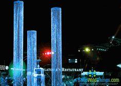 Crystal Columns 9 Feet Long, Diamond Beaded Architectural Column 9' Long