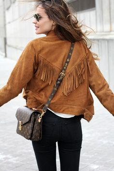 suede fringe jacket and LV looks – Lady Addict Looks Style, My Style, 2015 Fashion Trends, Fringe Jacket, Bohemian Mode, Suede Jacket, Suede Coat, Tan Jacket, Mode Inspiration