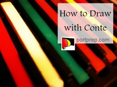 Learn how to draw with conte crayon with the help of Karen Kesteloot. She discusses how to create different volumes for lines and edges.
