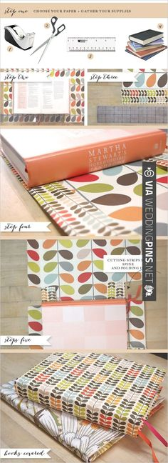 DIY how to cover a book | CHECK OUT MORE IDEAS AT WEDDINGPINS.NET | #diyweddings