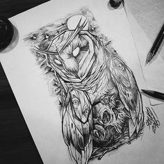 Barn Owl -The Night Alive sunday drawing and sketch tattoo flash.by #spankystudio #design #designer #designstudio #designinspiration #tattooed #blackworkers#blackwork #tattoo #tattoos #tatts #flash #blacktattoo #flashtattoo #flashaddicted #art #artwork #artist #blknwhite #darkartists #owl #skullart #blackworkerssubmission #dark #drawings #draw#black #tat #designlife #skull