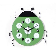 Cute ladybug wall clock. A good choice for kids' room decoration. Contact us: CJQ057989911607@outlook.com