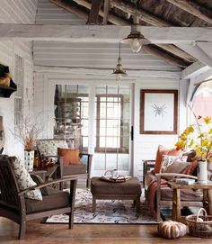 country living white rustic porch