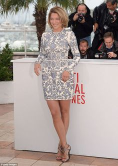 Leading lady: Léa Seydoux sets the trend for French Gallic glamour at Cannes