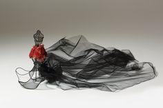 Pomagranate Skirt-weave metal net/red copper/latex/pomagranate/skirt/model/miniature/brass/mannequin
