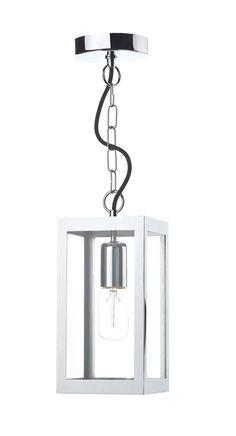 T LOT0150 Lotus 1 Light Lantern Pendant In Polished Chrome Box Pendant Withu2026