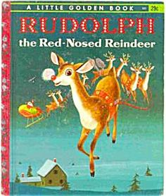 This Rudolph the Red Nosed Reindeer book came out with our Christmas decorations every year.