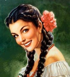Jesus Helguera. Helguera's wife, Julia Gonzalez Llanos, a native of Madrid, Spain, was his favorite model and inspiration for many of his paintings. Sometimes Julia was painted wearing traditional Mexican rural attire with a rebozo and at other times in a vibrant folklorico dress.