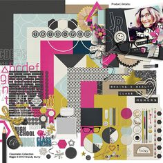 Classmates Collection Biggie, designed by Brandy Murry, Scrap Girls, LLC digital scrapbooking product designer