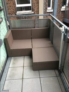Beautify that neglected balcony with elements that fit your budget. Outdoor Furniture Sets, Patio Decor, Outdoor Sectional Sofa, Porch Furniture, Apartment, Apartment Decor, Small Spaces, Storage Furniture, Apartment Balcony Decorating