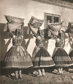 These photographs are taken from a cloth-bound book called 'Images of Hungary'--that being an educated guess on the translation of the Hungarian title. Folk Dance, Bound Book, World Cultures, Hungary, Romania, Traditional, Roots, Ethnic, Character