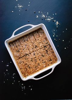 Healthy almond chocolate chip granola bars - cookieandkate.com