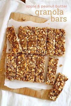 Apple and Peanut Butter Granola Bars | Graet Recipe!