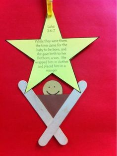 Do a simple text in the star like Happy Birthday Jesus or Love Came Down. Great quick simple craft for preschool Sunday school class or in-church craft time. Preschool Christmas, Christmas Activities, Christmas Crafts For Kids, Christmas Projects, Kids Christmas, Holiday Crafts, Christmas Decorations, Christmas Ornaments, Christian Christmas Crafts