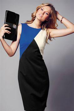 Colour Block Dress(Black)
