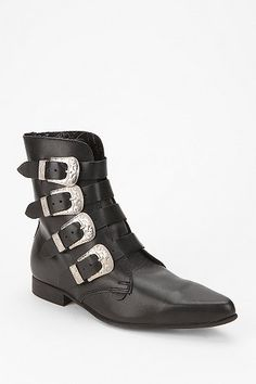 Underground Four-Buckle Western Ankle Boot