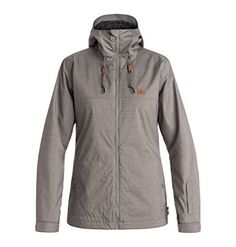 DC Delinquent Women's Skiing Snowboard Jacket - Pewter X-Small