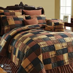 American Brown Twin Queen Cal King Size Patchwork Quilt Collection Bedding Set | eBay