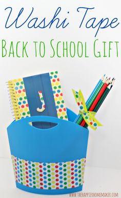Washi Tape Back to School Gift