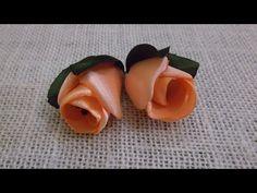 D.I.Y. Satin Ribbon Rose / Peony Flower Bud - YouTube