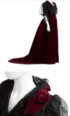 Vestido de noche de 1890