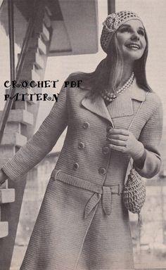 Vintage Dress Coat Hat & Bag Crochet PDF by KatnaboxCrochet