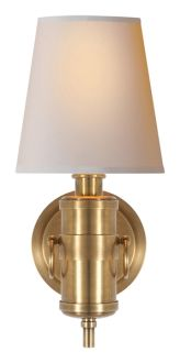 """JONATHAN SCONCE  Height: 13 1/2"""" Width: 6"""" Backplate: 5"""" Round Extension: 7"""" Shade: 4"""" x 6"""" x 6"""""""