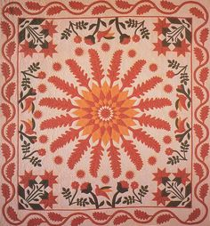 Little Sister's Quilt, 1858. Made by Susan Theresa Holbert Lawrence. Chester, New York.
