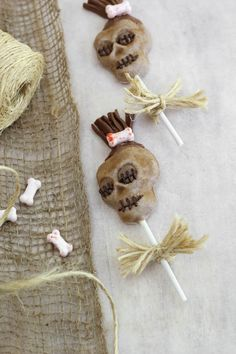 These dark chocolate shrunken head lollipops are as delicious as they are creepy.