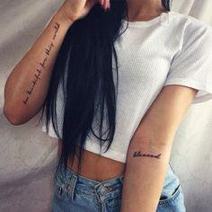 41 Small Meaningful Tattoos for Women Forearm Word Tattoo, Word Tattoos On Arm, Arm Quote Tattoos, Wörter Tattoos, Tattoo Fonts, Tattoo Placements, Text Tattoo Arm, Last Name Tattoos, Tatoos