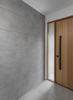 Loving the clean lines at ! A sleek combination of Scyon Stria, CSR Cemintel and stained cedar cladding Concrete Cladding, Concrete Wall Panels, Cedar Cladding, Stone Cladding, Exterior Cladding, Wall Cladding, Timber Battens, Modern Entrance Door, Modern Entry