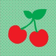Een hip geboortekaartje voor een zoon of dochter met een patroontje en twee kersjes