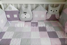 Купить бамперы в кроватку - бортики в кроватку, бортики, бортики в детскую кровать, подушка декоративная