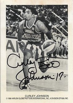 Rare Harlem Globetrotters Curley Boo Johnson Autographed Hand Signed x 5 Photo with certificate of authenticity. Johnson was discovered by Globetrotters general manager, Joe Anzivino, and invite Harlem Globetrotters, I Wish I Had, Authenticity, Certificate, Invite, Personality, Blues, Basketball, Star