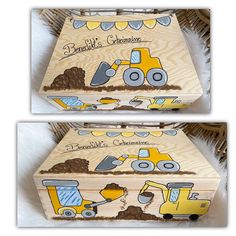 Painted Wooden Boxes, Arts And Crafts, Diy Crafts, Baby Box, Room Accessories, Wooden Crafts, Wood Toys, Handmade Toys, Diy For Kids
