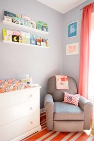 grey and orange nursery