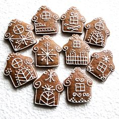 Perník - chaloupka Christmas Dinner Menu, Christmas Food Gifts, Christmas Gingerbread House, Homemade Christmas Gifts, Christmas Baking, Gingerbread Cookies, Crazy Cookies, Holiday Cookies, Holiday Treats