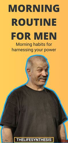 What's the best morning routine for men? Nobody needs to tell you that coffee and breakfast aren't enough. Learn how to create a healthy everyday morning routine keeps you from turning into a scmuck. #morningroutine #productivemorningroutine #morningroutine5am #healthymorningroutine #morningroutineformen