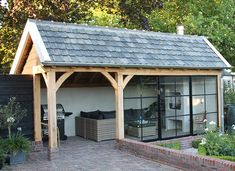 19 Ideas Exterior Design Backyard Garage For 2019 Best Exterior Paint, Exterior Paint Colors For House, Exterior Design, Garden Pool, Backyard Patio, Outdoor Rooms, Outdoor Living, House Paint Color Combination, Garden Buildings