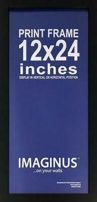 12 X 24 Inch Black Mdf Wood Frame Fashion Home Garden Homedcor Frames Ebay Link Wood Frame Mdf Wood Frame